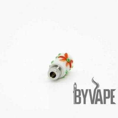 El İşi Çiçekli Cam Drip Dip Beyaz 510