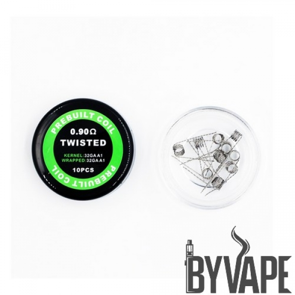 Prebuilt Twisted Coils 0.90 oHm